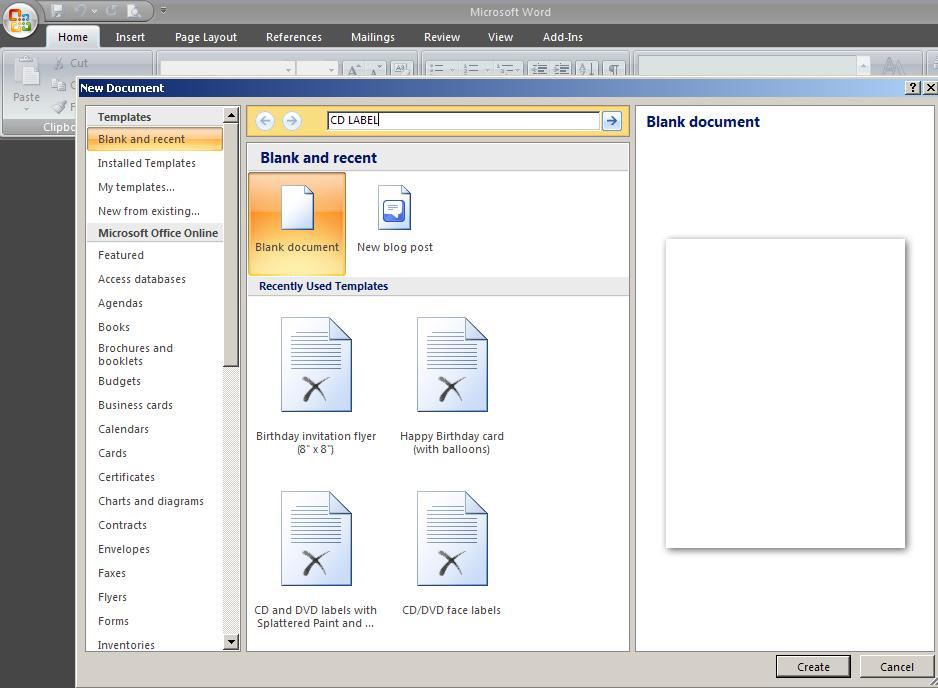Membuat Label CD/DVD Menggunakan Microsoft Word (2/2)